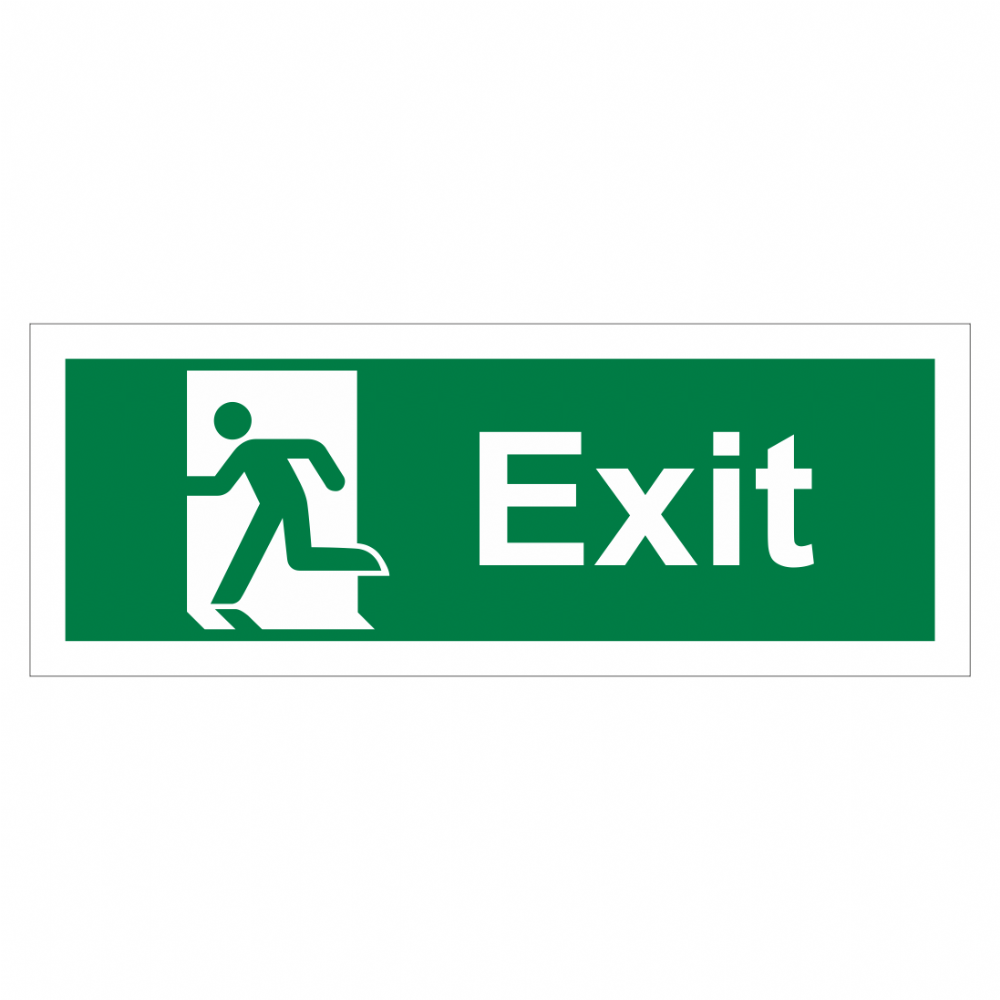 Exit Running Man Left Sign